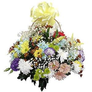 Cestinha de flores do campo