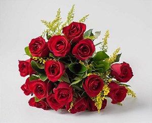 Bouquet 12 Rosas Vermelhas