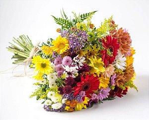 Belíssimo Bouquet Flores do Campo