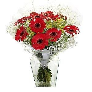 Bouquet de gerberas vermelhas