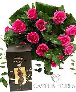 Bouquet rosas Pink com ovo kopenhagen