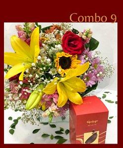 Bouquet flores Campo com ovo kopenhagen