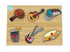 Quebra-cabeça com Pinos Instrumentos Musicais