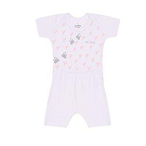 Conjunto Menina Bebê Coração Branco - Junkes Baby