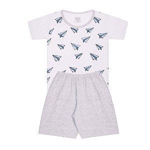 Pijama Infantil Menino Pijama Branco - Junkes Baby