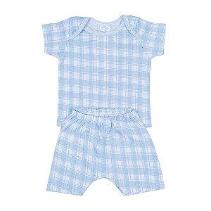 Conjunto Bebê Menino Pijama Xadrez - Junkes Baby