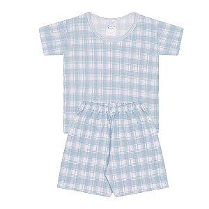 Pijama Infantil Menino Xadrez - Junkes Baby