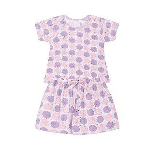 Pijama Infantil Menina Bolinha - Junkes Baby