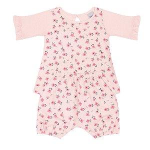 Conjunto Bebê Menina Floral Rosa - Junkes Baby