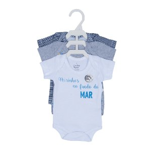 Kit Body Bebê Menino Estampado - Junkes Baby
