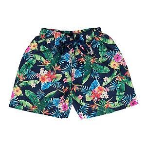 Bermuda Infantil Menino Tactel Floral - Sport Sul