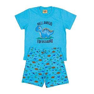Pijama Infantil Menino Dinossauro Azul - Rolú
