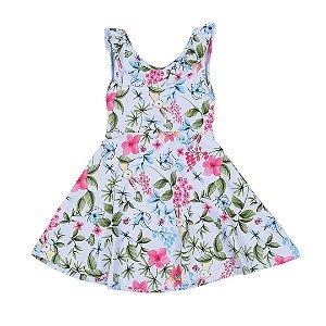Vestido Infantil Menina Floral Azul - Fantoni