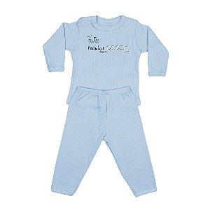 Conjunto Menino Bebê Estampado Azul - Junkes Baby
