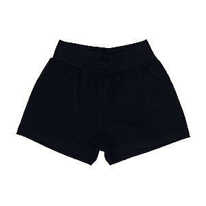 Shorts Infantil Menina Preto - Rolú
