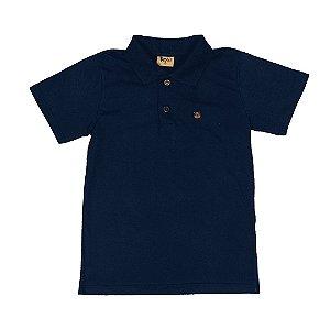 Camiseta Infantil Menino Gola Polo Azul - Rolú