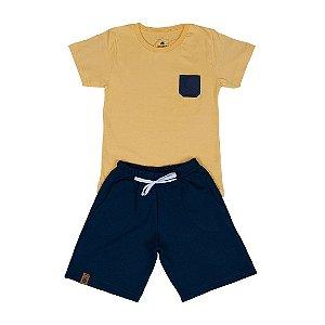 Conjunto Infantil Menino Amarelo/Marinho - Universo Encantado