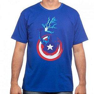 Camiseta Capitão com Mjölnir