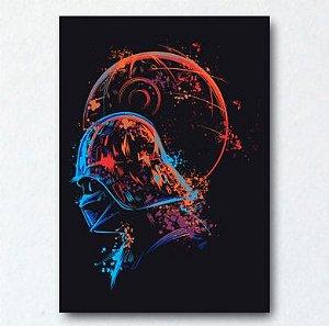 Placa Decorativa Darth Vader Aquarela