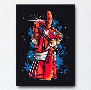 Placa Decorativa Manopla Tony Stark