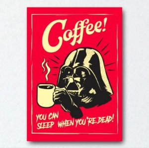 Placa Decorativa Darth Coffee