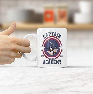 Caneca Capitão América Hero Academy