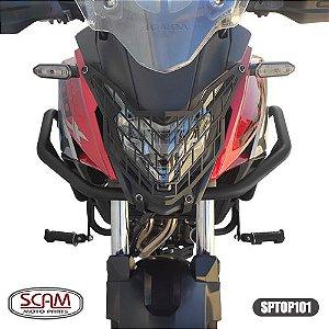 PROTETOR DE MOTOR E CARENAGEM C/PEDAIS CB500X 2013+