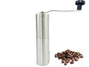 Moedor De Café Manual Em Aço Inox e Cerâmica Com Ajuste De Moagem Portátil