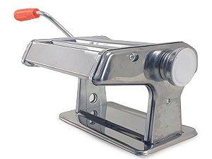 Maquina de Macarrão Caseira  Aço Inox 3 Tipos Massas Cilindros Corte Fixo