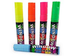 Kit Com 2 Canetas Para Escrever em Vidros Window Marker