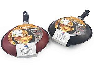 Omeleteira Em Alumínio Reforçado Com Revestimento Antiaderente Cabo em Baquelite Modelo 24 Dona Chefa