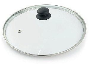 Tampa Avulsa de Vidro Temperado Dona Chefa Para Panelas Frigideira Caçarola Tamanho 26 cm de Diâmetro