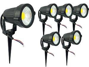 Kit 6 Espeto de Jardim Luminária Com Luz De Alto Brilho Super Forte Led 5w 110v 220v