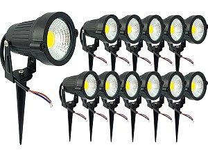 Kit 12 Espeto de Jardim Luminária Com Luz De Alto Brilho Super Forte Led 5w 110v 220v