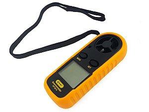 Anemômetro Digital LCD Portátil Temperatura e Velocidade do Vento Medição em Mph, Km/h, Cº, Fº