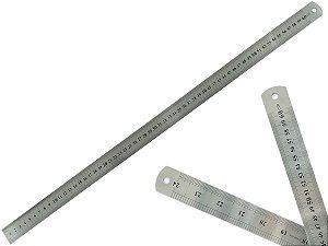 Régua Rígida Metal Inoxidável Escritório Escolar Engenheiro Maquetes Marcação Baixo Relevo 60 cm