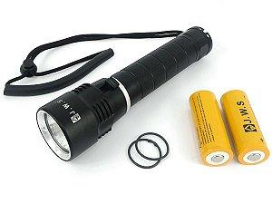 Lanterna Super Led Para Mergulho Jws Ws728 Com Duas Baterias