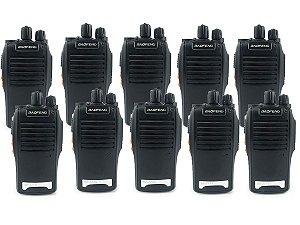 Kit 10 Walkie Talkie Rádio Comunicador Profissional Baofeng BF777S Fone de Ouvido 16 Canais Rádio FM