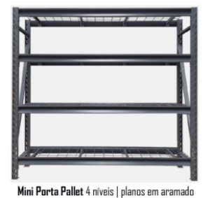 Mini Porta Pallets - 4 Planos Aramados