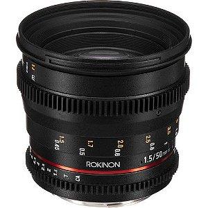 LENTE ROKINON 50MM T1.5 CINE LENS PARA CANON EF 50 MM