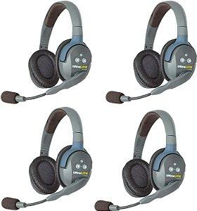 KIT 4 INTERCOM WIRELESS EARTEC UL5S DUAL-EAR