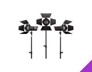 KIT 3X LED APUTURE LS-MINI20 DAYLIGHT