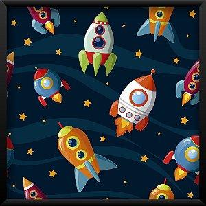 Quadro Foguetes no Espaço