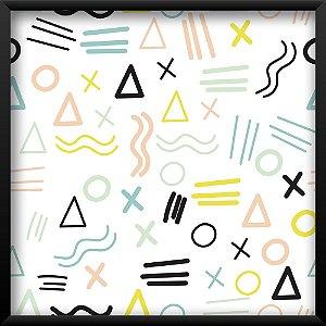 Quadro Geometric em Tons Claros