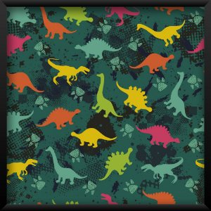 Quadro Dinossauros Coloridos