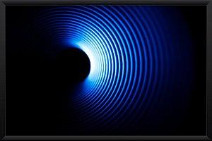 Quadro Ondas Sonoras Azul