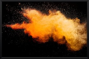 Quadro Explosão Laranja