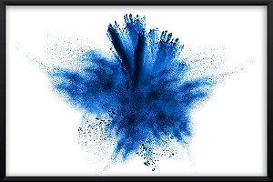 Quadro Explosão Azul