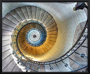 Quadro Escadaria Tijolinho Branco