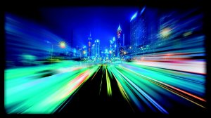 Quadro Cidade Abstrata Blue